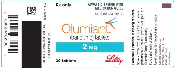 PACKAGE LABEL – OLUMIANT 2 mg 30ct Bottle