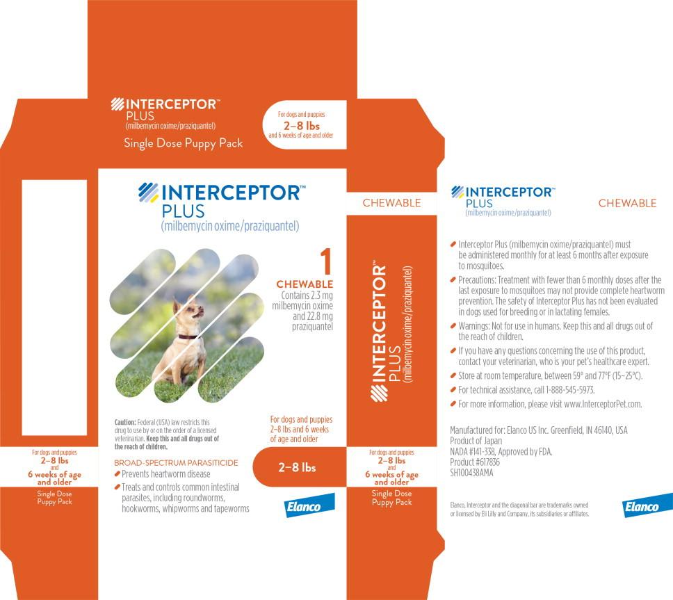 Principal Display Panel - Interceptor Plus 2-8 lbs 1 Chewable Label