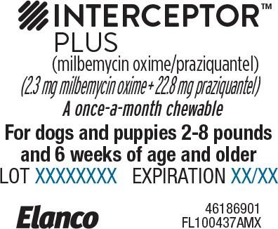 Principal Display Panel - Interceptor Plus 2-8 lbs Blister Label