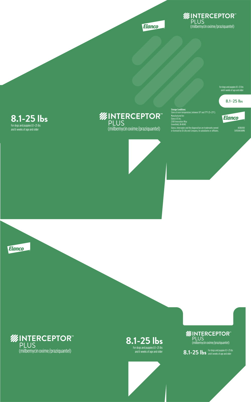 Principal Display Panel - Interceptor Plus 8.1-25 lbs Box Label
