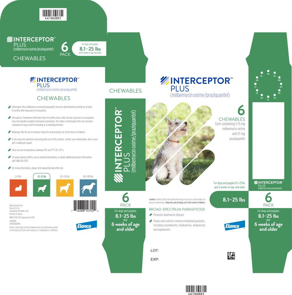 Principal Display Panel - Interceptor Plus 8.1-25 lbs 6 Pack Label