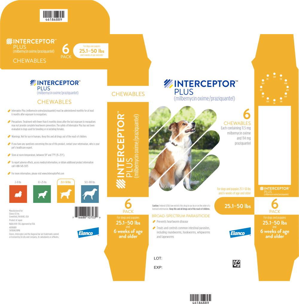 Principal Display Panel - Interceptor Plus 25.1-50 lbs 6 Pack Label