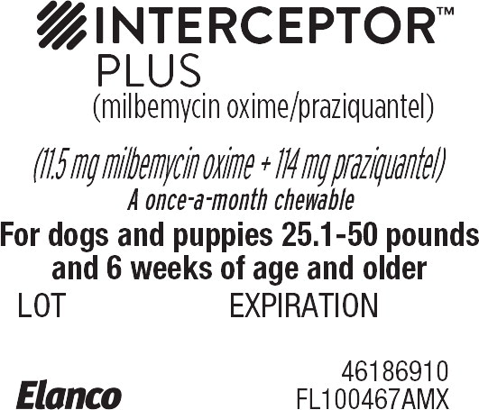 Principal Display Panel - Interceptor Plus 25.1-50 lbs Blister Label