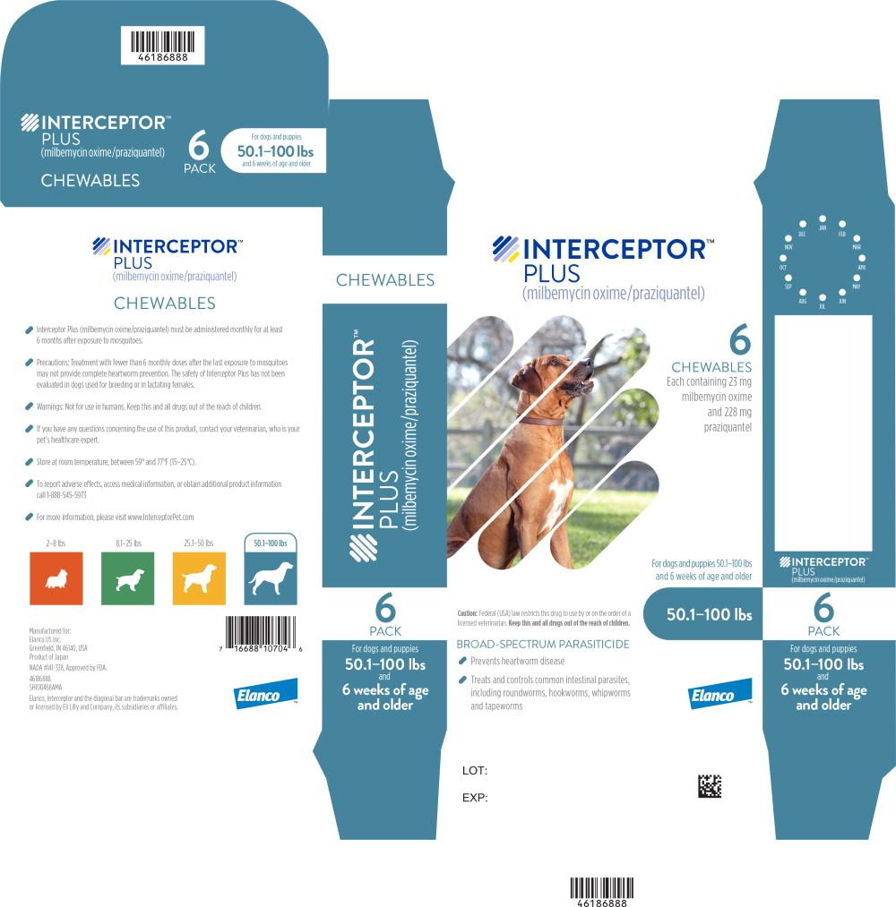 Principal Display Panel - Interceptor Plus 50.1-100 lbs 6 Pack Label