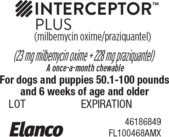 Principal Display Panel - Interceptor Plus 50.1-100 lbs Blister Label