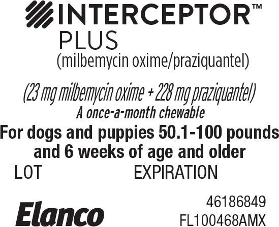 Principal Display Panel - Interceptor Plus 50.1-100 lbs Blister Label