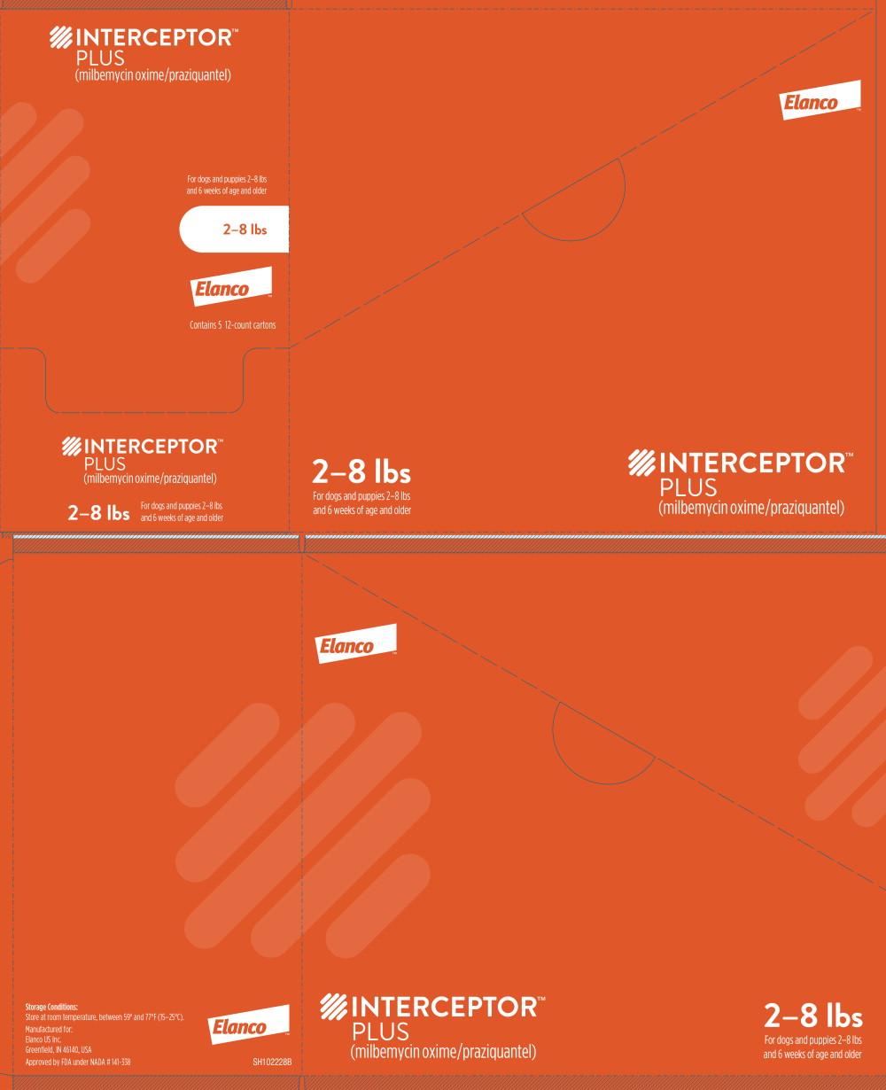 Principal Display Panel - Interceptor Plus 2-8 lbs 12 Carton Box Label