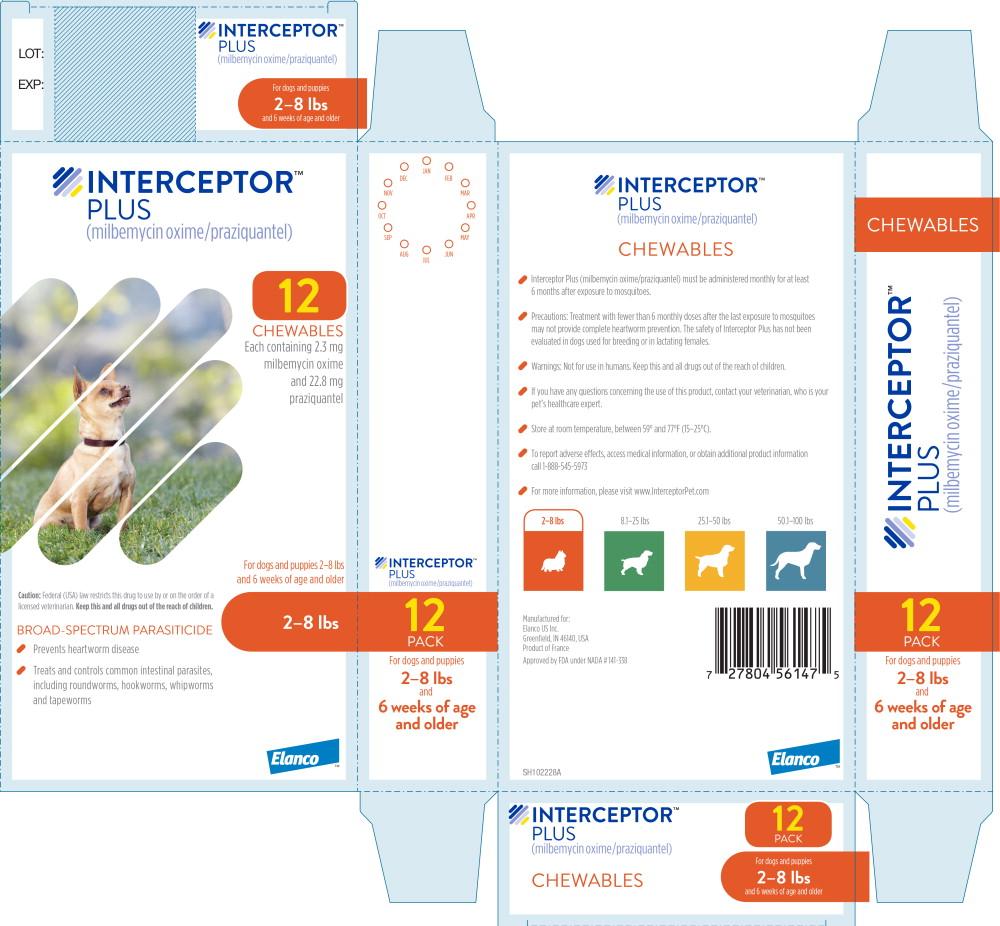 Principal Display Panel - Interceptor Plus 2-8 lbs 12 Pack Label