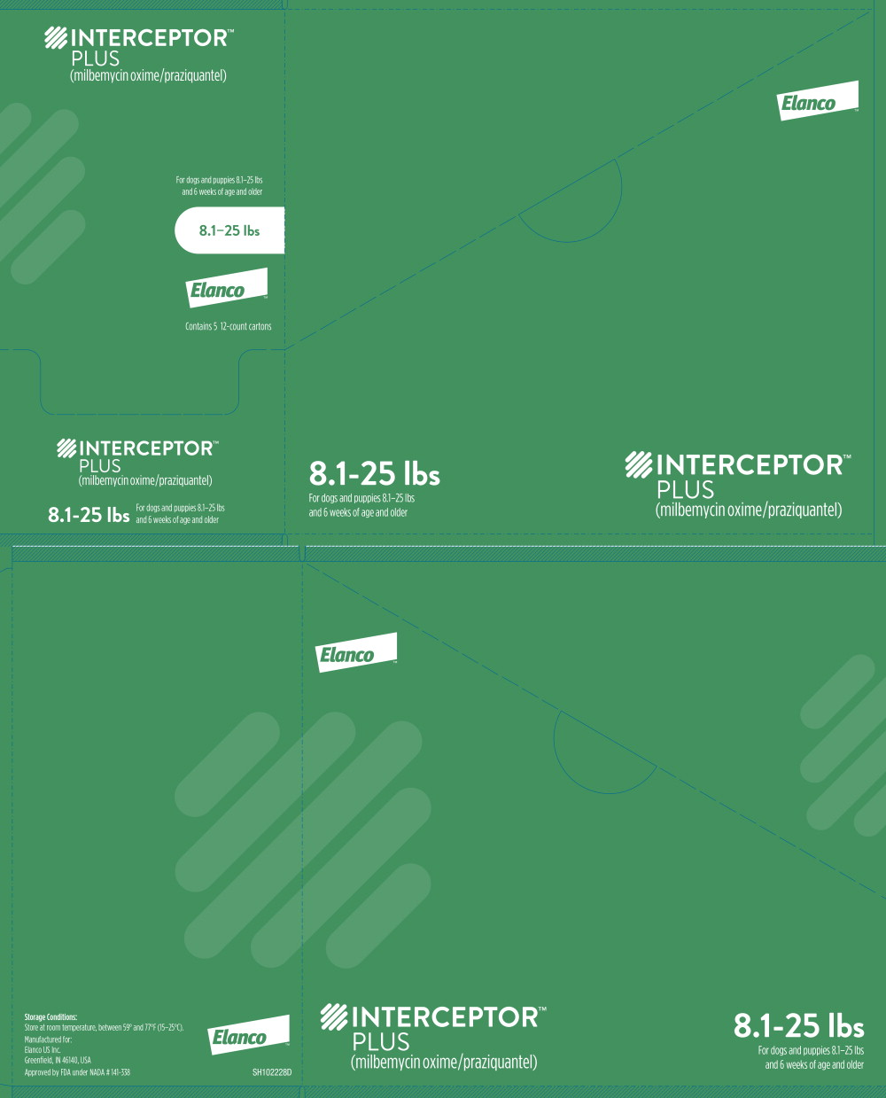 Principal Display Panel - Interceptor Plus 8.1-25 lbs 12 Carton Box Label