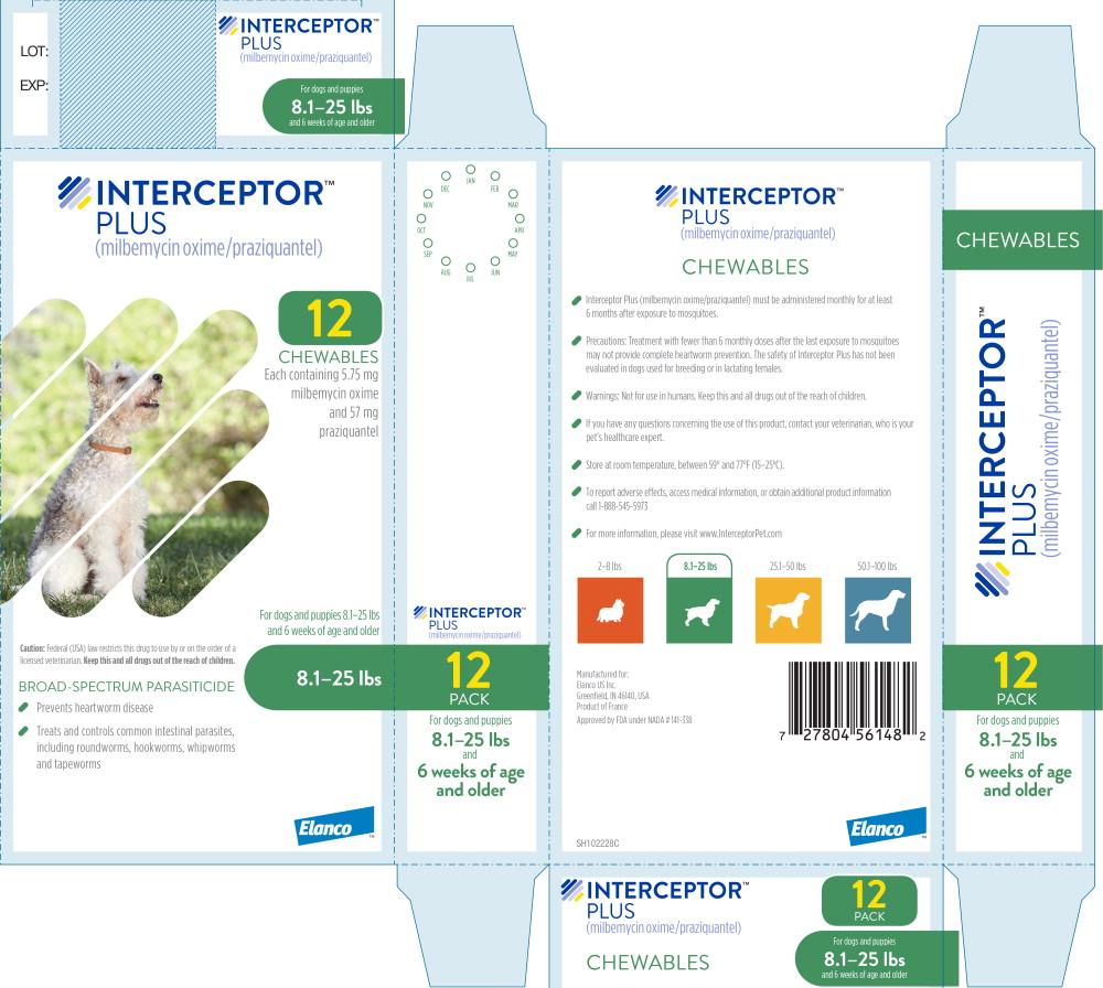 Principal Display Panel - Interceptor Plus 8.1-25 lbs 12 Pack Label