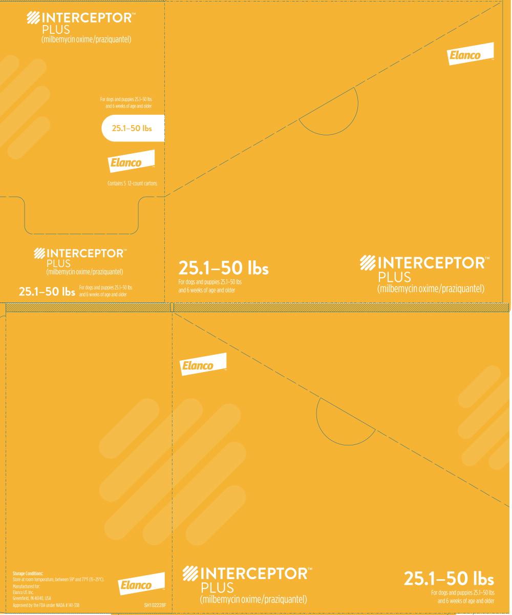 Principal Display Panel - Interceptor Plus 25.1-50 lbs 12 Carton Box Label