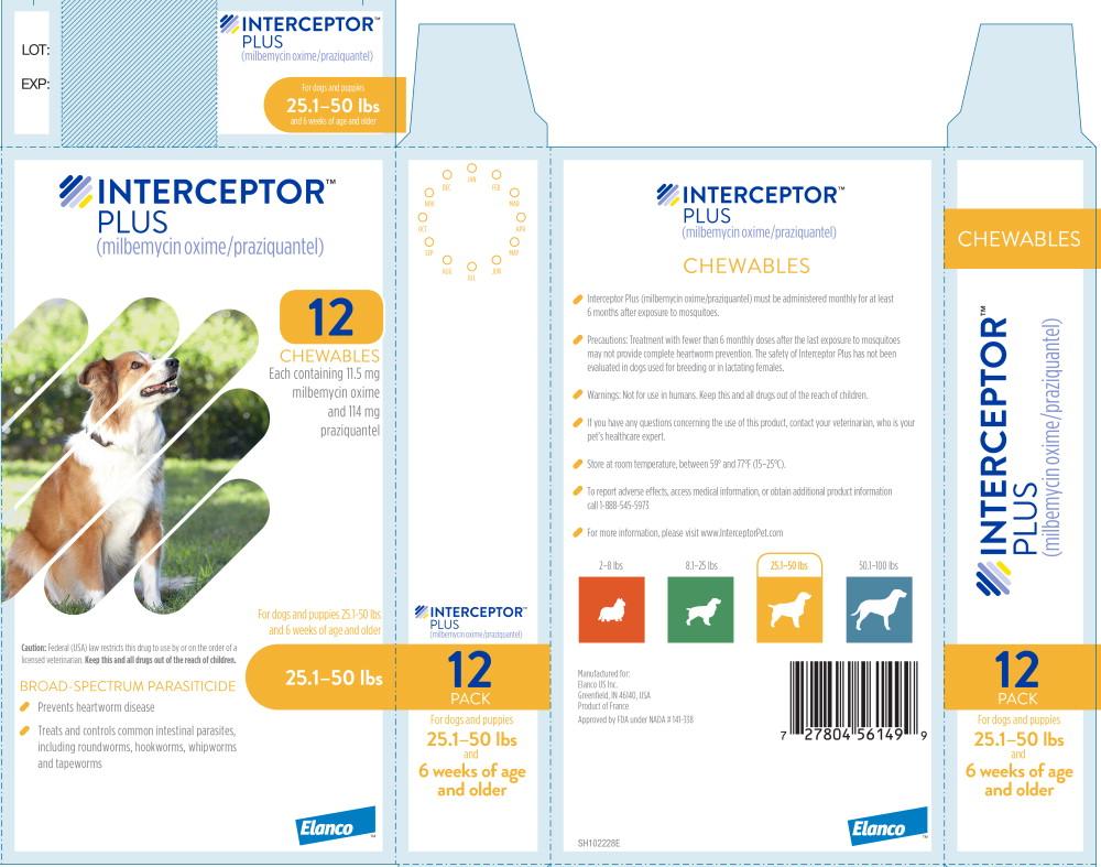 Principal Display Panel - Interceptor Plus 25.1-50 lbs 12 Pack Label