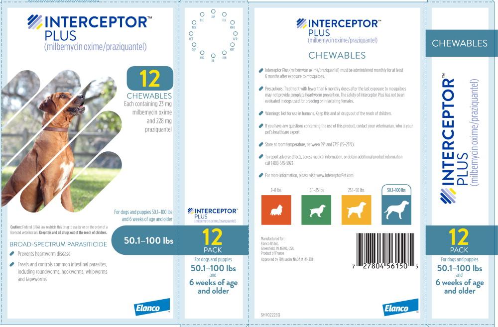 Principal Display Panel - Interceptor Plus 50.1-100 lbs 12 Pack Label