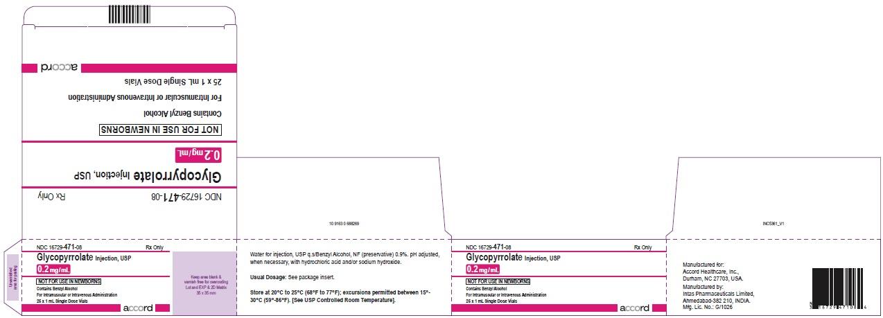 Glycopyrrolate injection, USP 0.2 mg/mL 25 x 1 mL Single Dose Vials