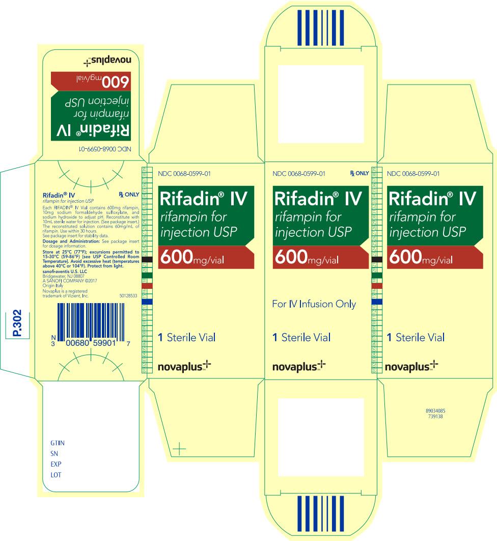PRINCIPAL DISPLAY PANEL - 600 mg Vial Carton