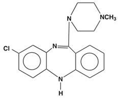 Clozapine Structural Formula