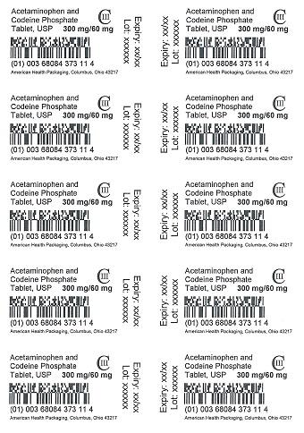 300 mg/60 mg Acetaminophen and Codeine Phosphate Tablet Blister