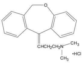 Doxepin Hydrochloride Structural Formula