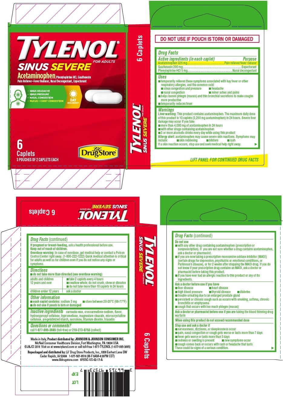 PRINCIPAL DISPLAY PANEL - 6 Caplet Pouch Carton