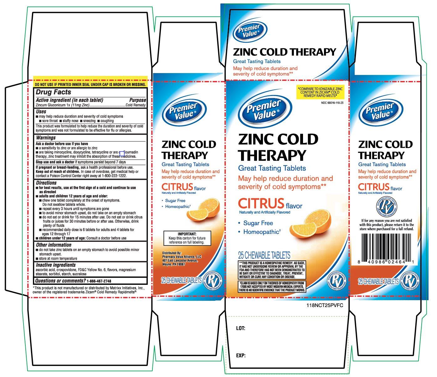 Premier Value Citrus Flavor 25 Chewable Tablets