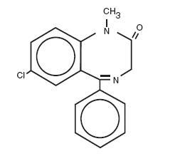 Diazepam Structural Formula