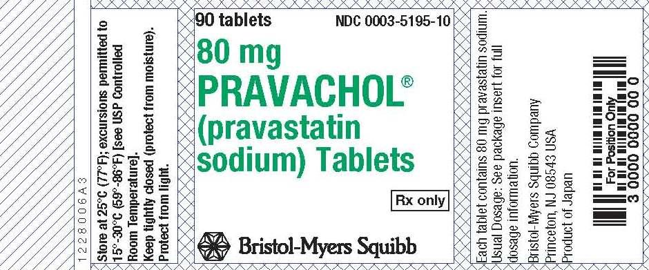 Image Pravachol 80 mg label