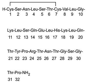 Calcitonin-Salmon Structural Formula