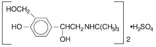 chemical structure albuterol sulfate