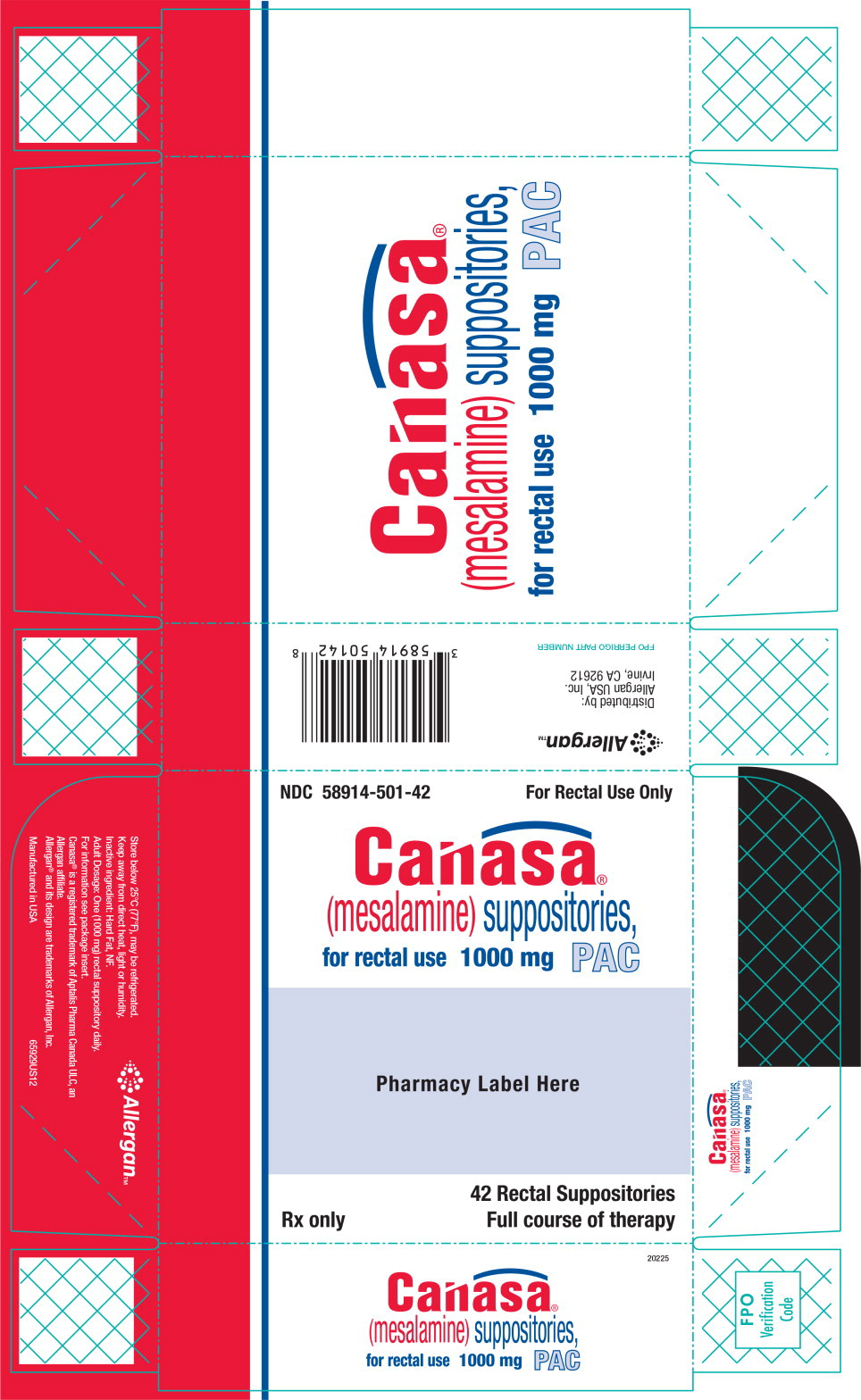 Principal Display Panel - Canasa Carton Label