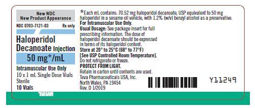 0703-7121-03 50 mg/mL Single Dose Vial Tray