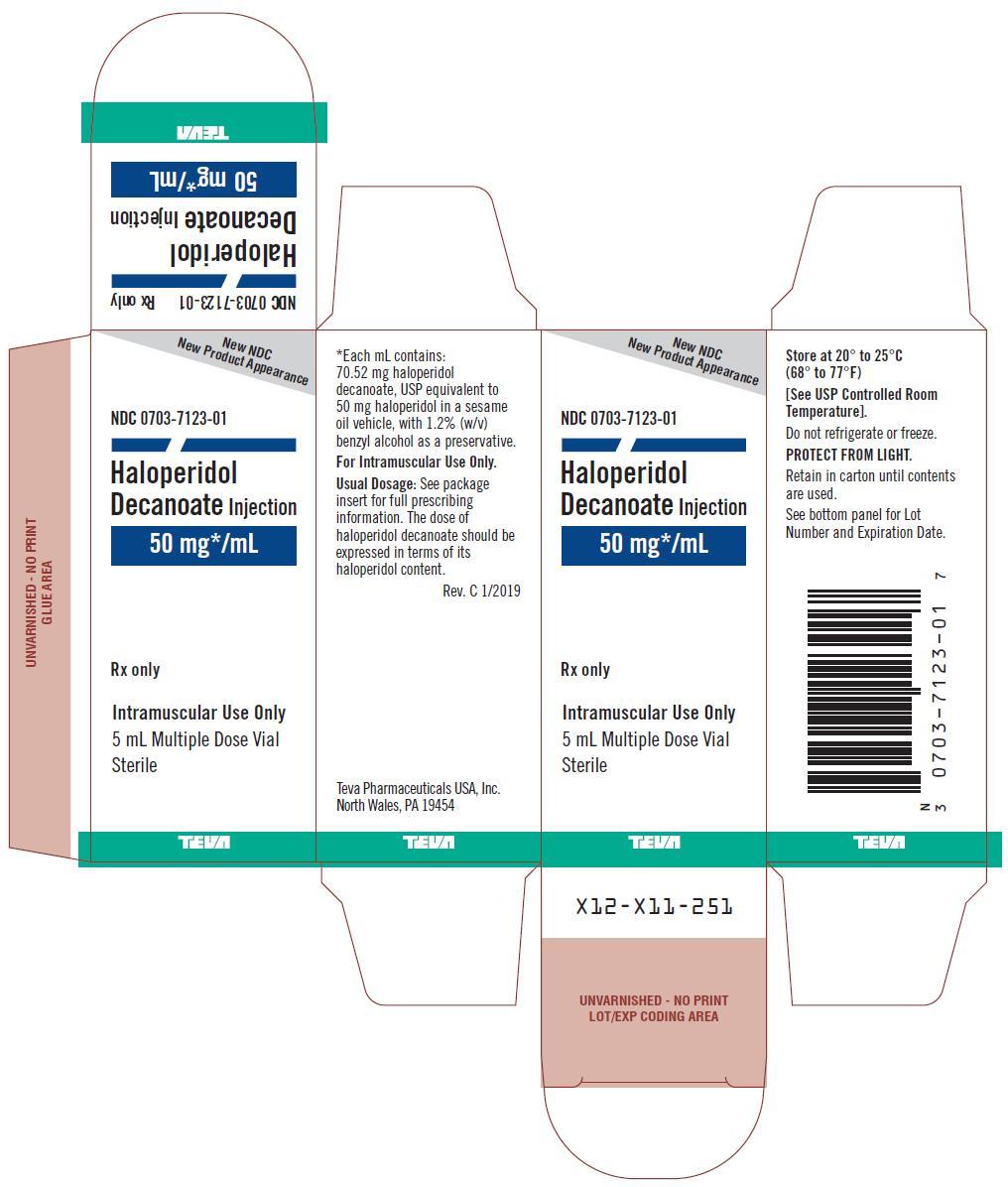 0703-7123-01 50 mg mL Multiple Dose Vial Carton
