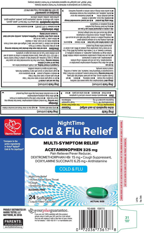 Acetaminophen325 mg, Dextromethorphan HBr 15 mg, Doxylamine Succinate 6.25 mg