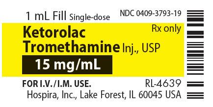 PRINCIPAL DISPLAY PANEL - 15 mg/mL Vial Label