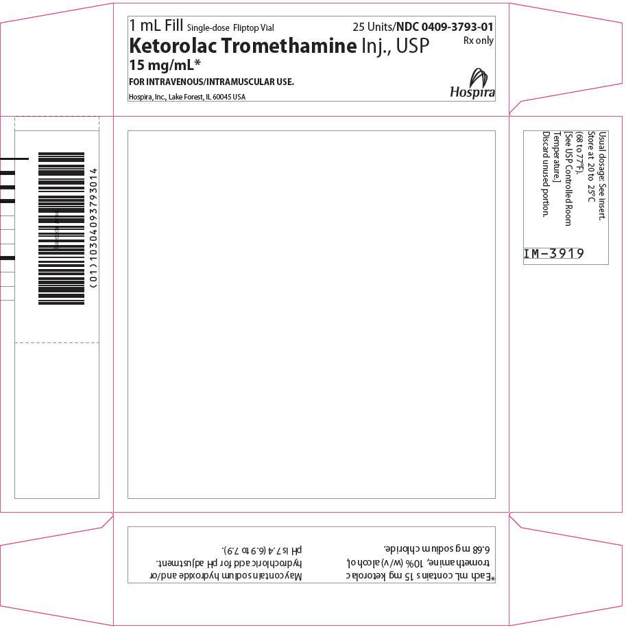 PRINCIPAL DISPLAY PANEL - 15 mg/mL Vial Tray
