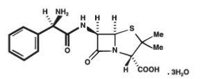 Ampicillin trihydrate Chemical Structure