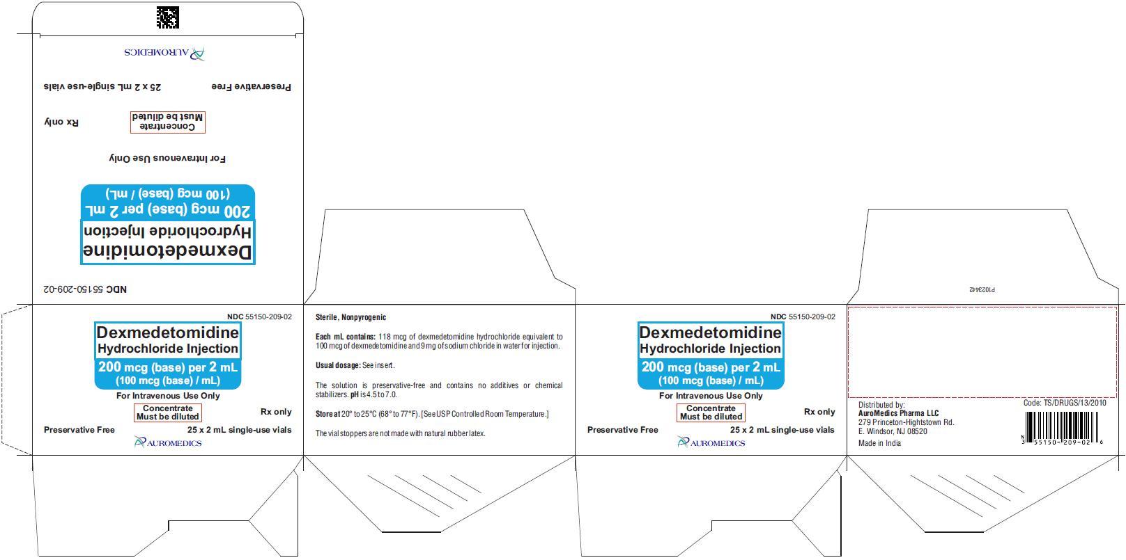 PACKAGE LABEL-PRINCIPAL DISPLAY PANEL - 200 mcg (base) per 2 mL (100 mcg (base) / mL) - Container-Carton (25 Vials)