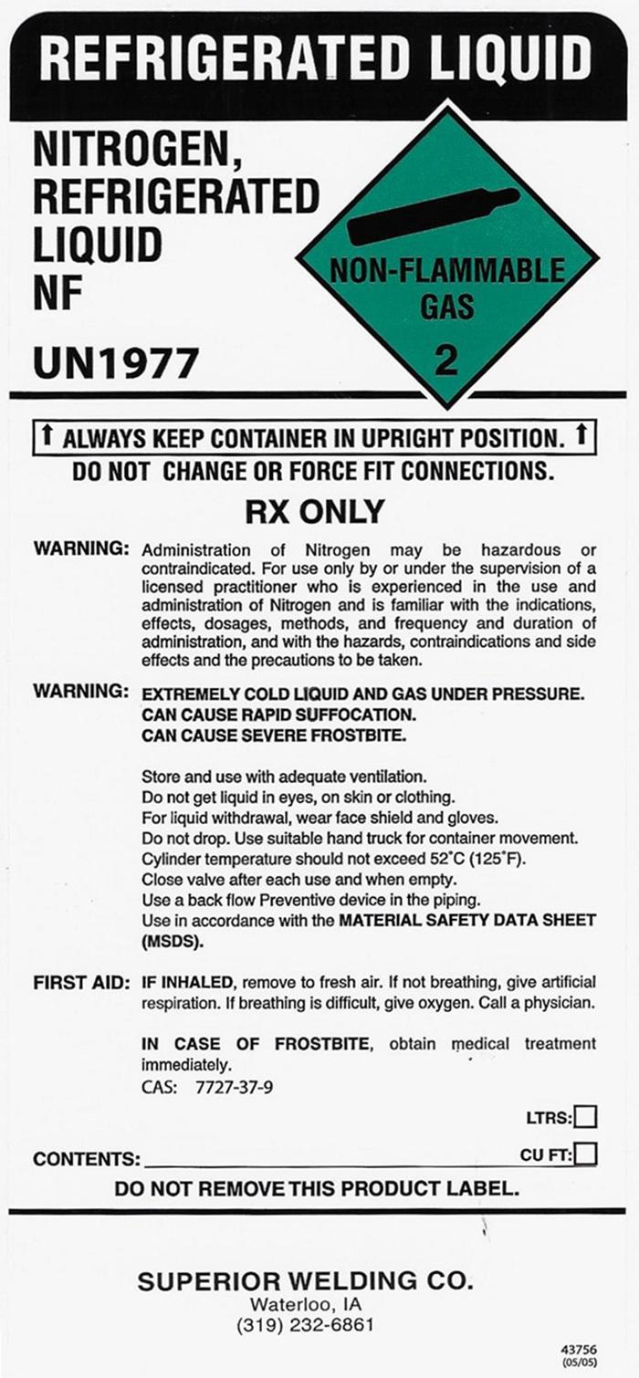 Nitrogen LIquid Label