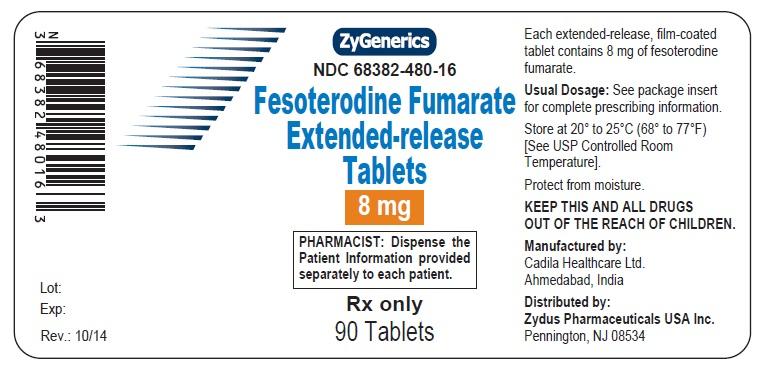 Fesoterodine ER Tablets, 8 mg
