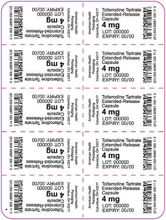4 mg Tolterodine Tartrate ER Capsule Blister