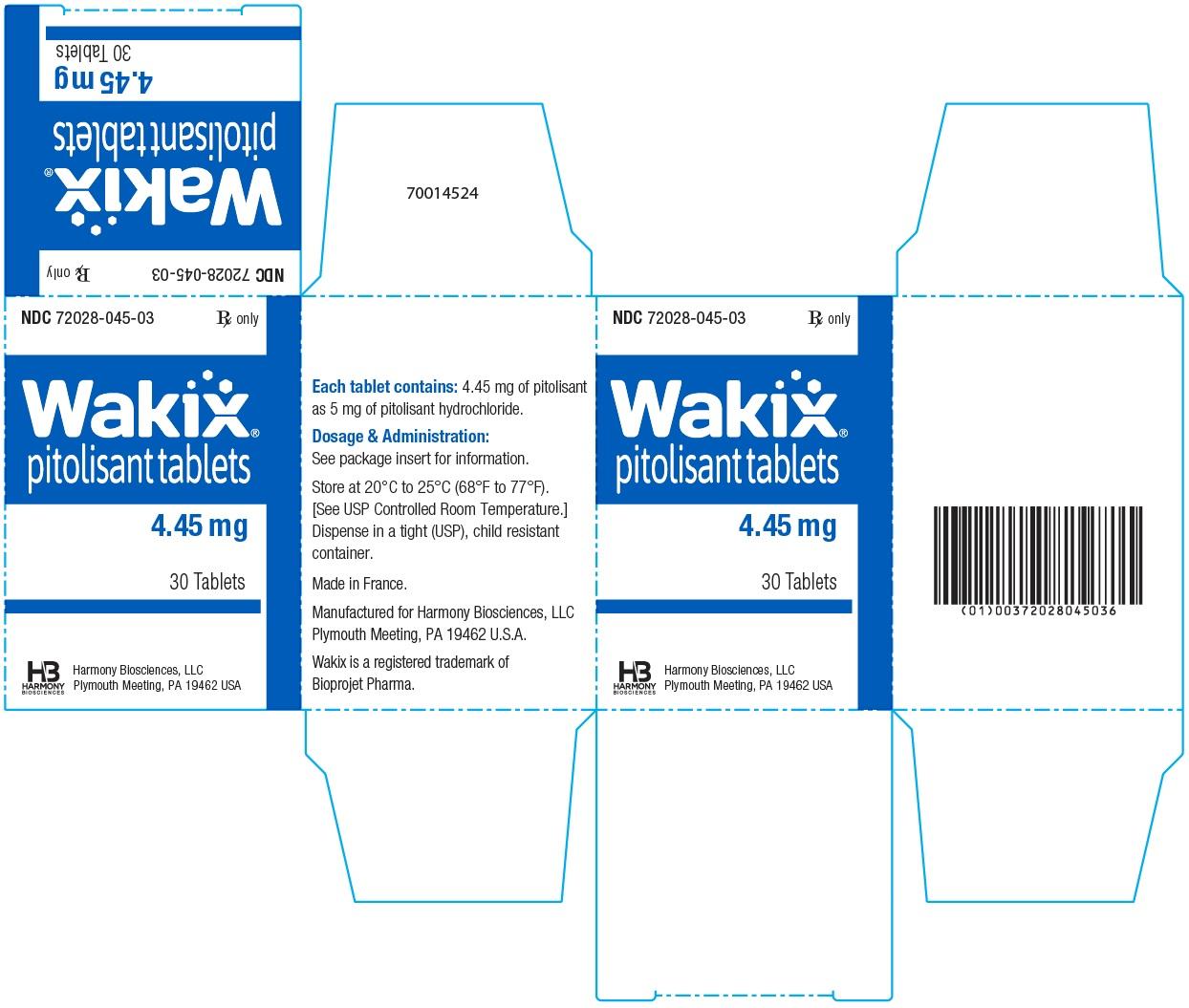 4.45 mg Carton Label