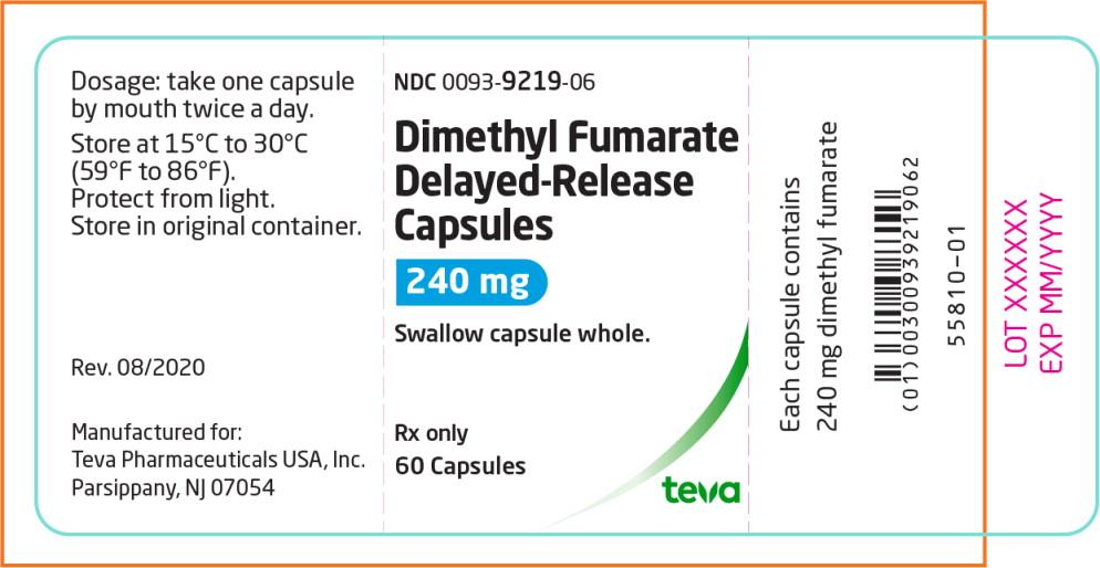 Principal Display Panel – 240 mg Bottle Label