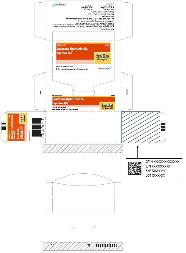 Naloxone Hydrochloride Injection, USP 4 mg/10 mL Carton Label
