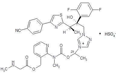 Isavuconazonium sulfate Structural Formula