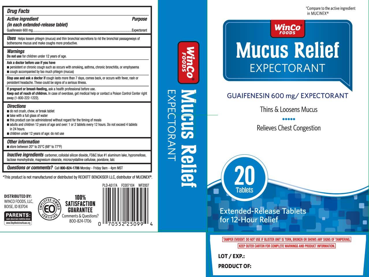 Guaifenesin 600 mg