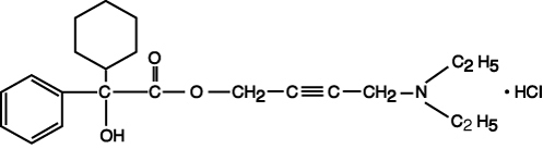 This is an image of the structural formula for Oxybutynin Chloride.