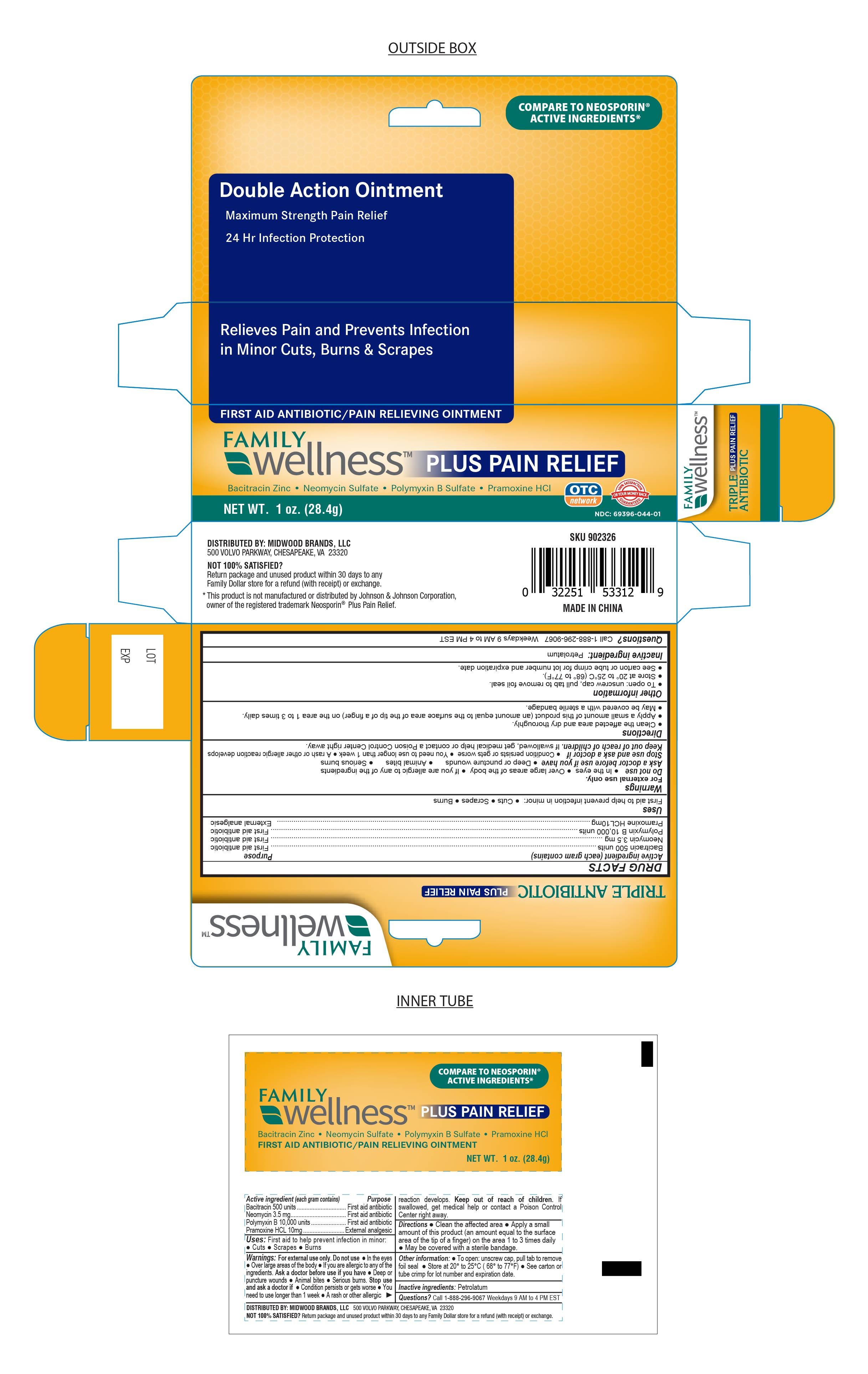 family wellness triple antibiotic plus pain ointment