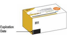The carton contains 28 ampules in individual foil pouches.