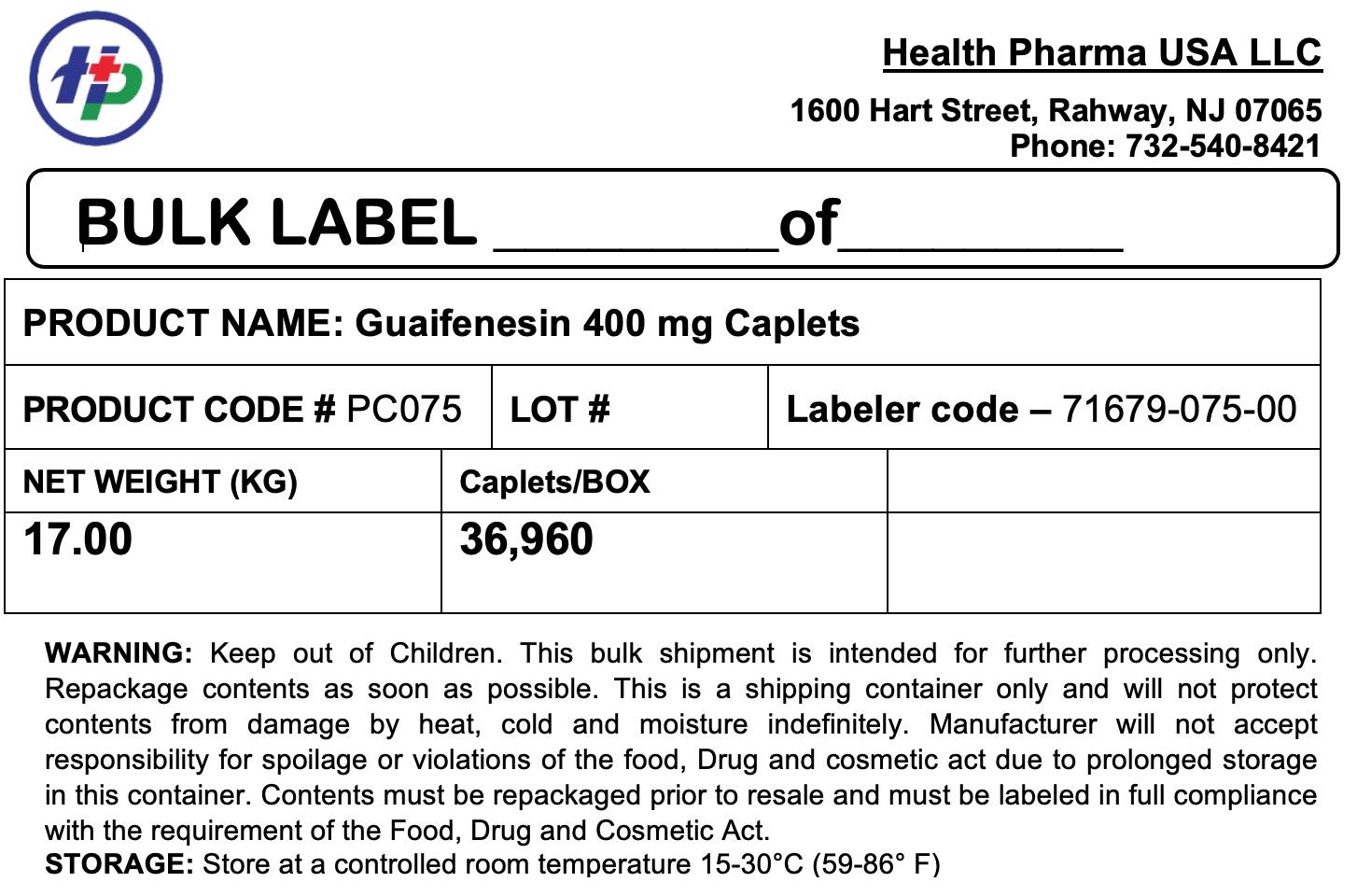 Guaifenesin 400 mg