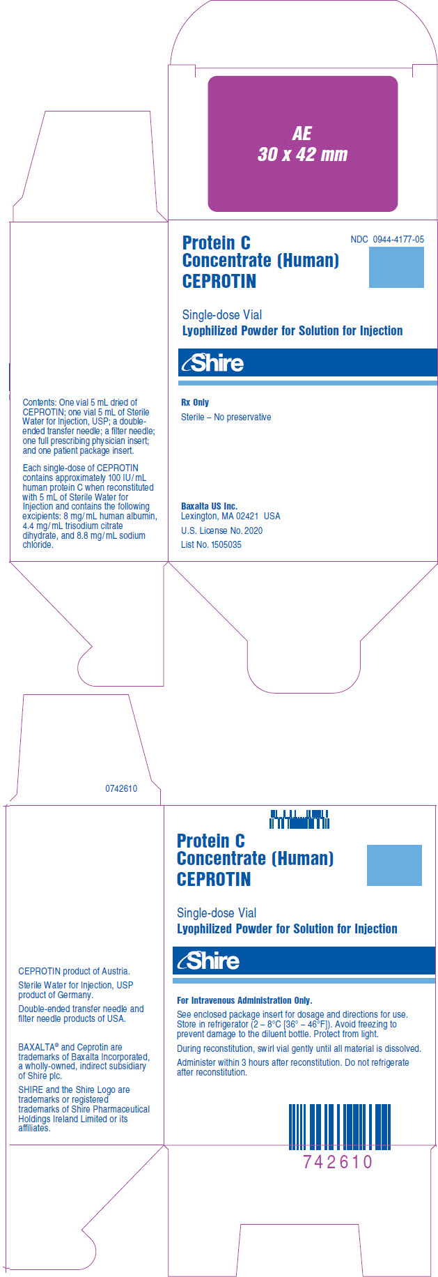 PRINCIPAL DISPLAY PANEL - Kit Carton - NDC: <a href=/NDC/0944-4177-05>0944-4177-05</a>