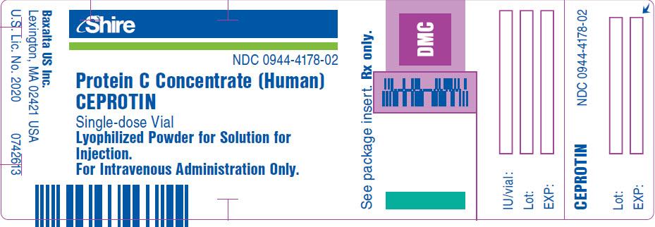 PRINCIPAL DISPLAY PANEL - 10 mL Vial Label - NDC: <a href=/NDC/0944-4178-02>0944-4178-02</a>